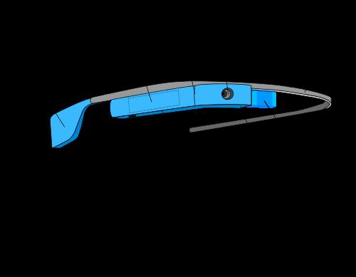 Schematische Darstellung von Google Glass (Quelle: Wikipedia)